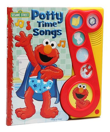 Loving this Elmo Potty Time Songs Play-a-Song Board Book on #zulily! #zulilyfinds