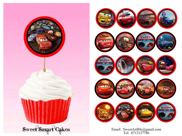 20pc double sided Disney Cars cupcake toppers, PLUS 15g fondant stars. Price: R35. For more info, designs & orders, email SweetArtBfn@gmail.com or WhatsApp 0646446495 CHEAP SHIPPING AVAILABLE!!