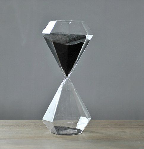 Glass Products 30 Minutes Hourglass Diamond Hourglass Sand Timer (Black) Sand…