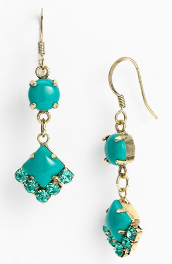 drop earrings jewelry accessories aqua teal turquoise