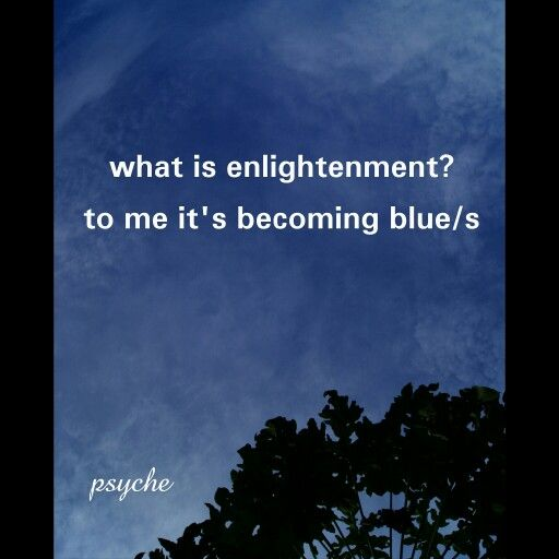 Becoming blue(s)