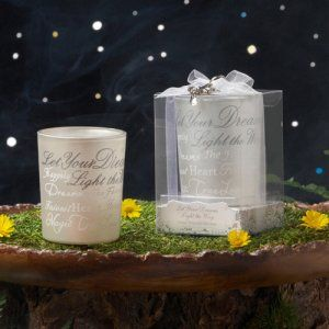 Disney Collection wedding candle holder favor.