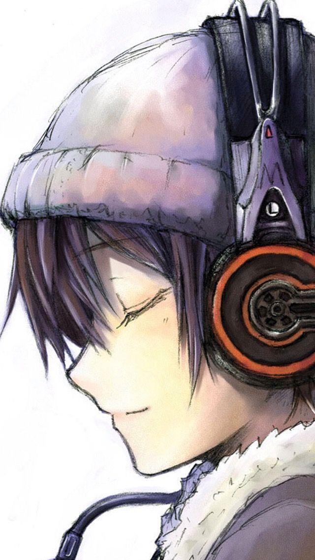 Anime Headphones Dark Hair Beanieis This A Guy Or A Girl I Really