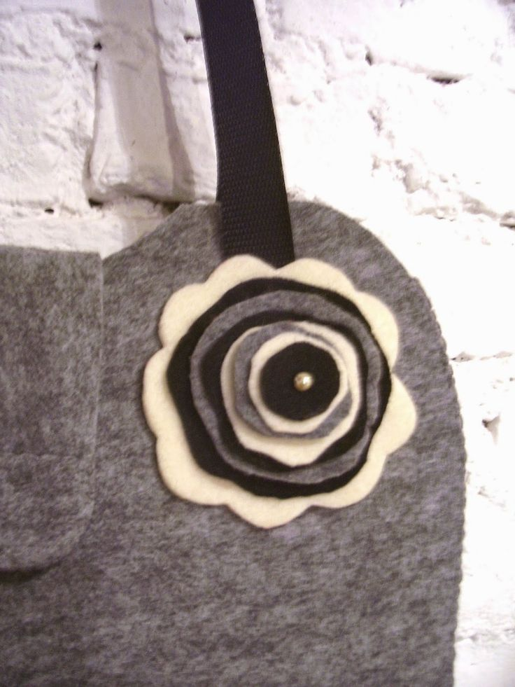Sandrynka - hand made: Szara Torba XL dla mojej Mamy :)