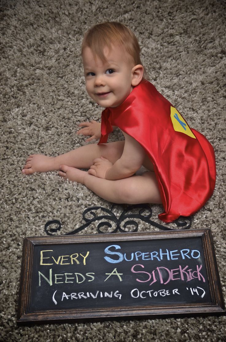 2nd Baby announcement. Our little superhero has some news!