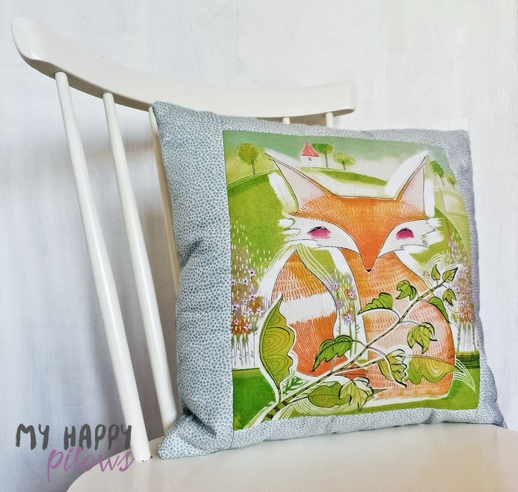 Pillow - Fox, Good Company by Cori Dantini for Blend Fabrics