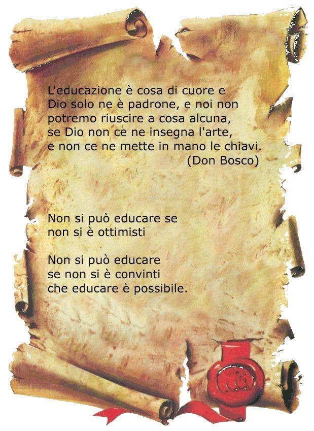 Don Bosco pensiero