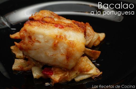 Jugoso bacalao típico de Portugal, que acompañaremos con patatas y salsa de pimentón. Ideal como plato principal que podremos acompañar con una ensalada.