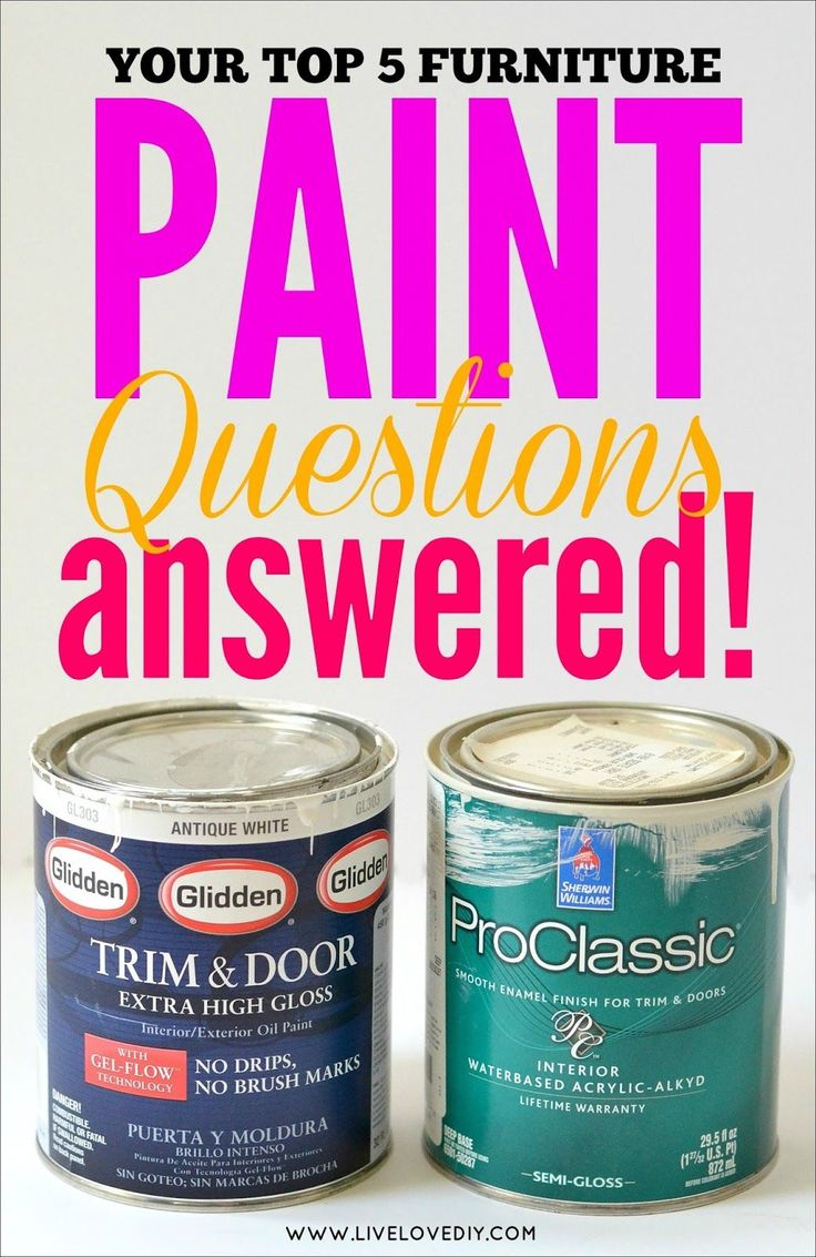 Your Top 5 Furniture Paint Questions Answered