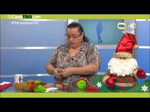 UNA CHUPETA SANTA HECHA EN FIELTRO  - Colombina(CHUPETA) navideña Hecho con estilo 18 de Septiembre