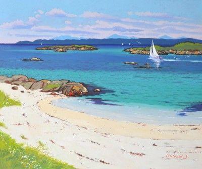 Frank COLCLOUGH - Sand, Sea and distant Cuillen