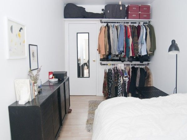 17 best ideas about no closet on pinterest no closet for Small bedroom no closet