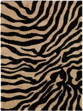 Surya Alfredo Afr 3325 Jet Black / Parchment Area Rug, Safari Print That  Will