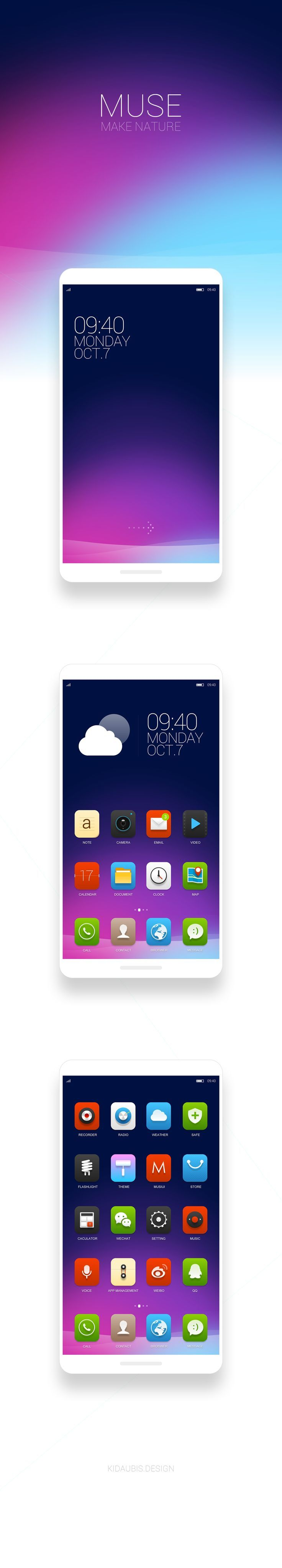 More Muse UI Design #mobile #ui #design pinterest.com/alextcsung/