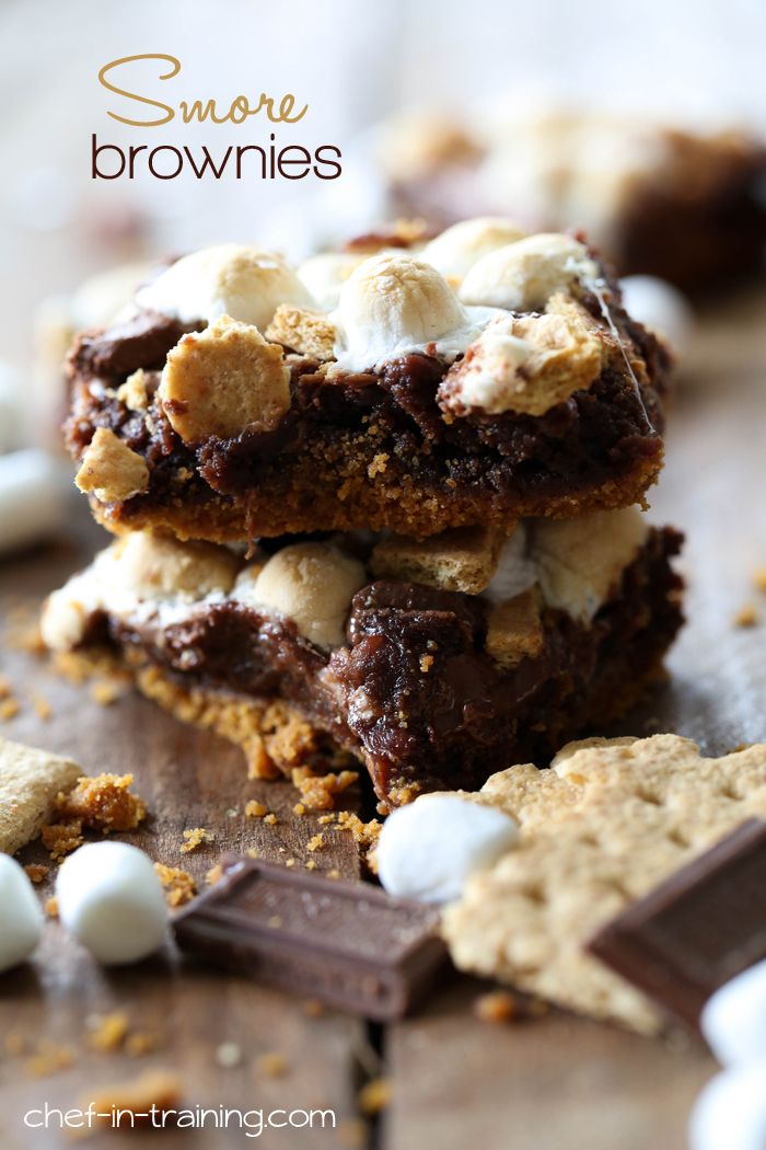 S'more Brownies from chef-in-training.com …These brownies are insanely DELICIOUS! A definite must try recipe!