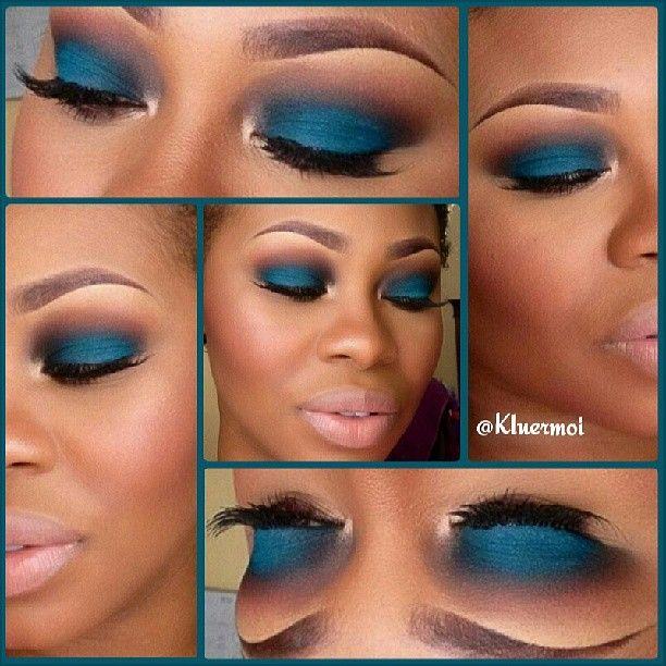 teal eyeshadow- I wish I had the skin tone to pull this off