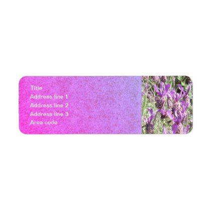 French Lavender Flowers Personalized Address Label - return address labels label diy personalize cyo unique design custom