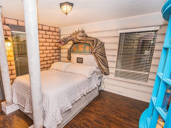 Photos Unique And Huge Harry Potter Themed House You Can Stay In Insider Harry Potter Room Decor Wooden Bed Frames Yellow Room