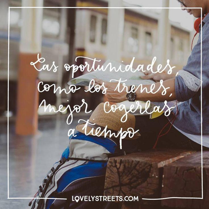 La vida va de descubrir nuevos horizontes y aprovechar todas y cada una de las nuevas oportunidades que se presenten ante ti. #lovelystreets #life #quotes #opportunities #travel #goodmorning