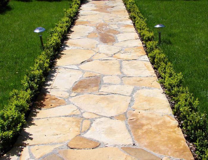garden path - photo/picture definition - garden path word and phrase image