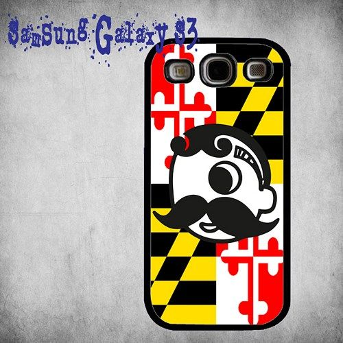 Natty Boh MD Flag Print On Hard Plastic Samsung Galaxy S3, Black Case