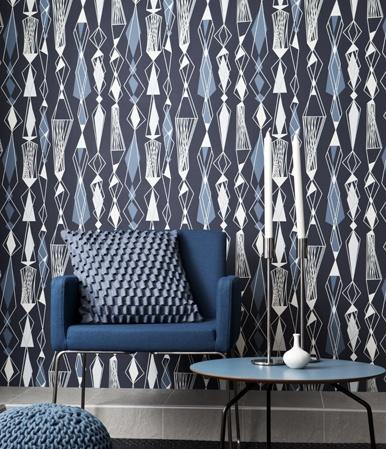 #houseofpatterns | Retro Style Eco Wallpaper