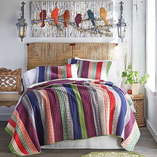 Often our first impression of quilts is that of handmade for Handmade decorative items for bedroom
