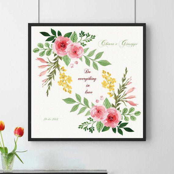 Wedding poster. Custom poster.Instant download. di 3dimensioni