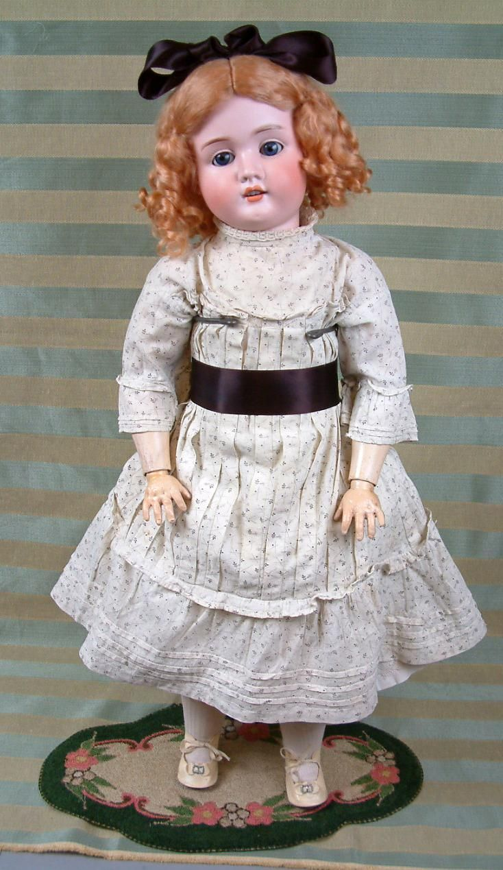 "Манящая 27"" Schoneau & Хоффмайстера 1906 бисквит Антикварная немецкая Кукла -- от kathylibratysantiques на Руби Лейн"