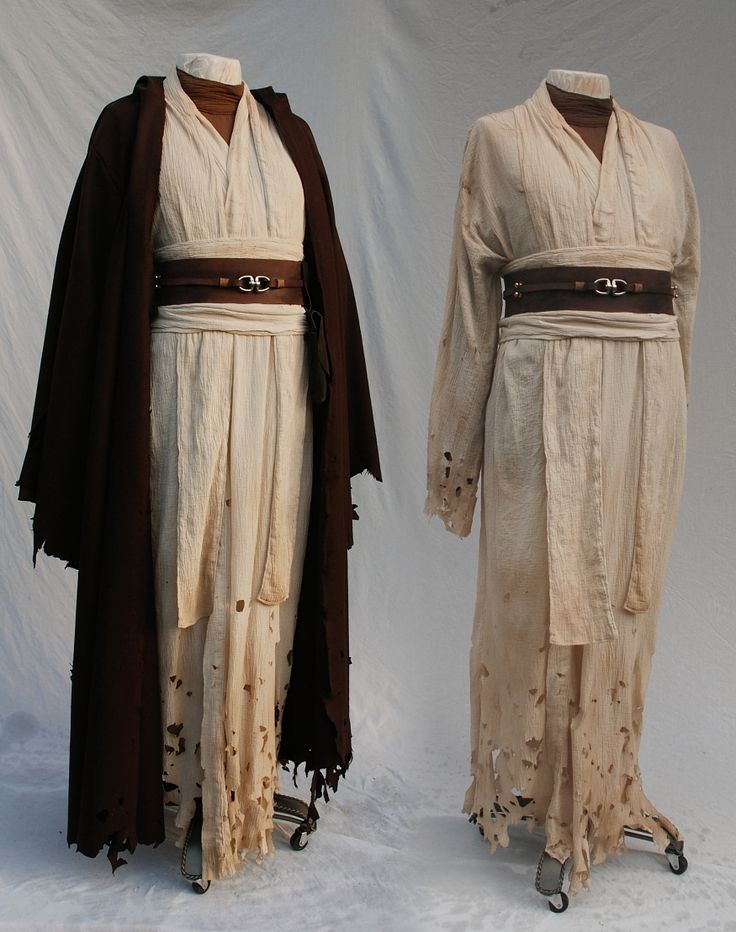 A long ragged Jedi robe. Might be good inspiration for Sheppard