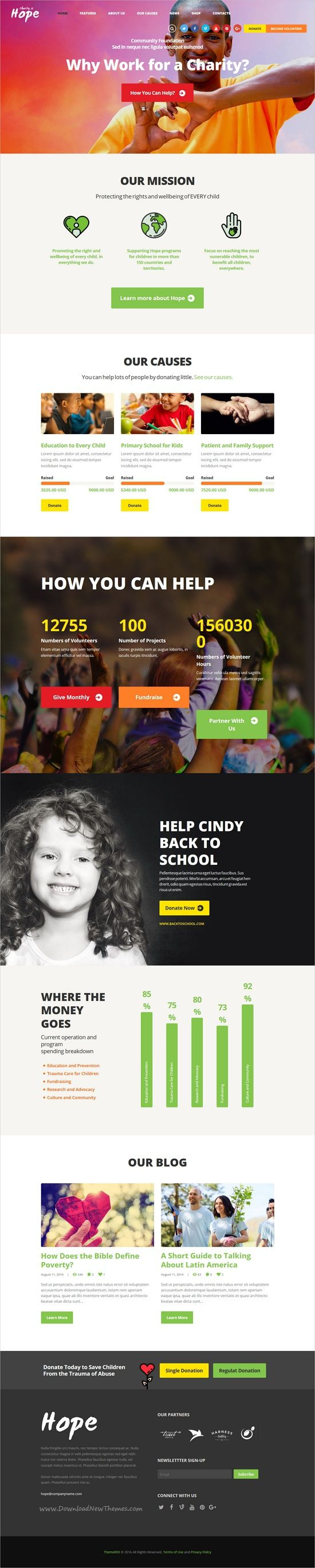 Hope is a wonderful 3in1 responsive #HTML5 template for #webdev #charity, NGO, donations, foundation, fundraising or #governmental social program websites download now➩  https://themeforest.net/item/hope-nonprofit-charity-donations-site-template/19334865?ref=Datasata