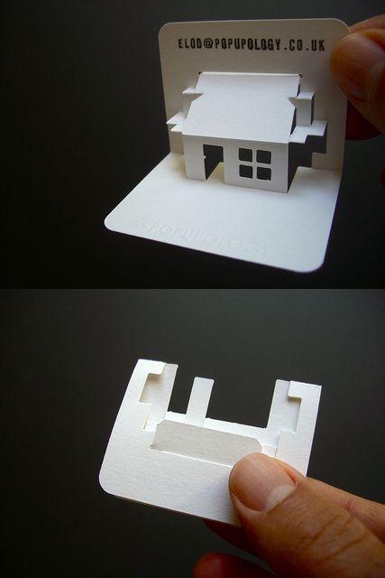 new 3-d business card series VII - house by elod beregszaszi, via Flickr