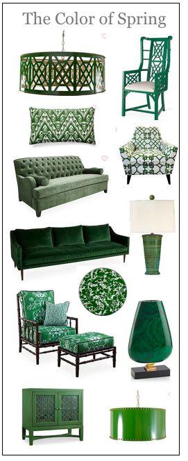 I love the velvet sofa and that pendant light!