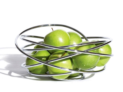 """Fruit Loop"" by Black+Blum - Chrome Plated Steel Wire"