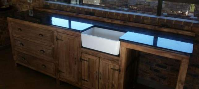 Kitchen Cupboard Scullery unit Farmhouse series 3000 - Stained Brakpan - image 1