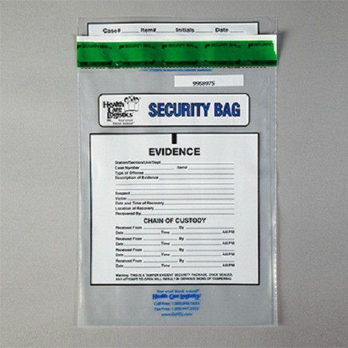 Health Care Logistics 11309 Chain Of Custody Bag, Clear, 9 x 12