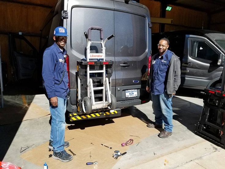 Griffin Inc. an armored car manufacturer located in Byhalia, Mississippi installing HTS Systems' HTS-20SHM trailer hitch receiver Hand Truck Sentry System units to 2500 Ford Transit armored vans.