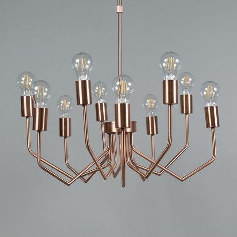Hanglamp Ritz 10 koper - Binnenverlichting - QAZQA.com