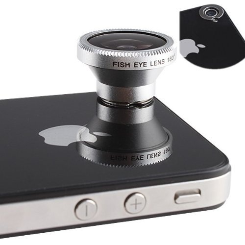 Magnetic 180 Degree Angle Fisheye (0.28X) Lens Designed for Apple iPhone 4 iPhone 4S iPod Nano 4 iPad $18.93