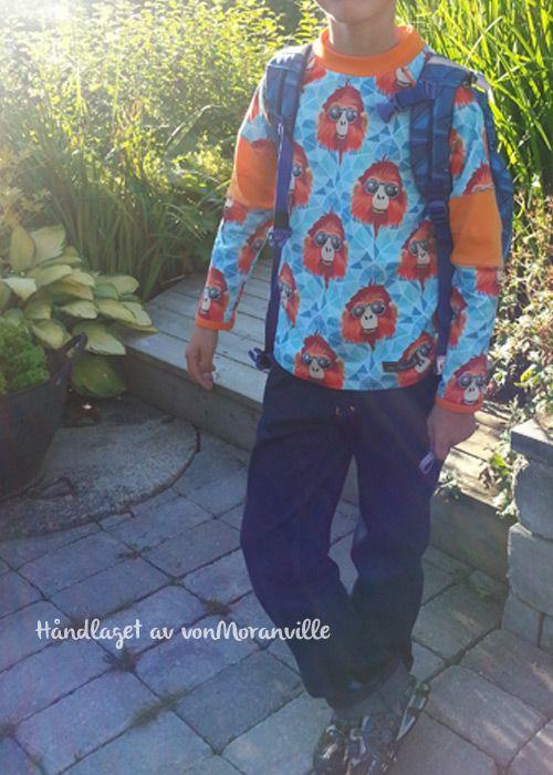 Back to school - homemade shirt and pants.