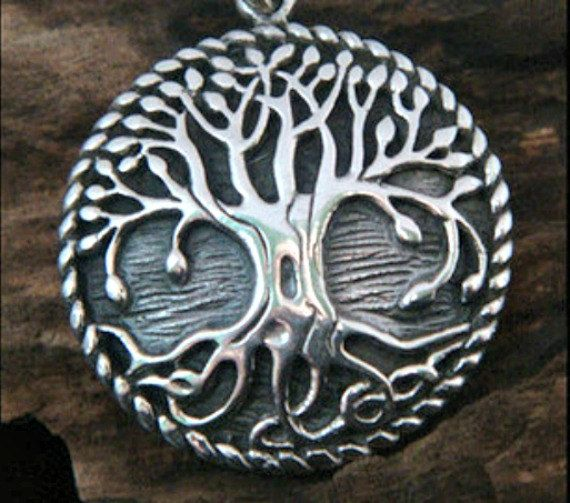 Celtic Tree of Life  NecklaceSterling Silver Gift by Impulse18K