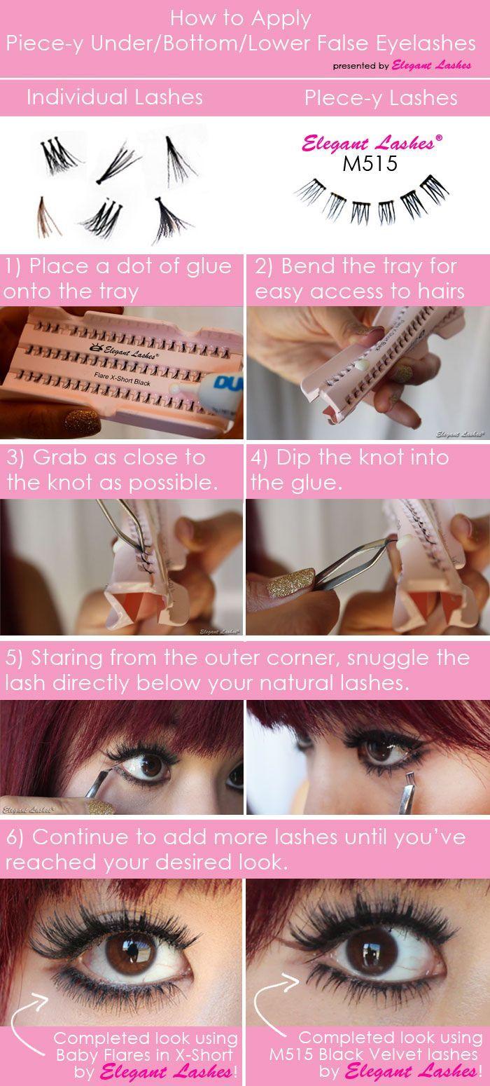 how to apply bottom/under/lower false fake eyelashes.