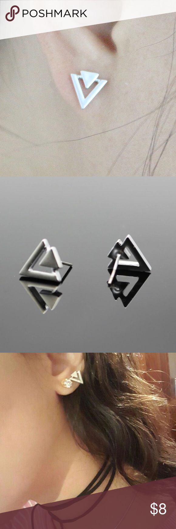💎RESTOCK💎 Silver Triangle Minimal Stud Earrings 🔻RE-STOCKED🔻  BRAND NEW  All items arrive adorably gift wrapped. 🎁  Simply bundle your items & save 💲💲💲  WHILE SUPPLIES LAST  Thanks for your support & enjoy! 💕  TAGS ONLY: NOT: Nasty Gal Victoria's Secret Ulta Sephora MAC H&M Lululemon kate spade J. Crew Kardashian Free People Juicy Stella & Dot Smashbox Urban Outfitters follow game Kylie classy trending cheap deal sale stylish hot trend high fashion dainty Nasty Gal Jewelry Earrings