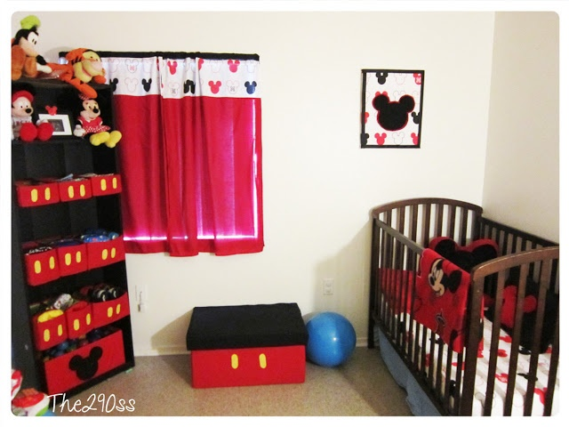 Baby Bedroom In A Box Special: Mickey Mouse Inspired Room Wall #2. Diaper Bins, Photo