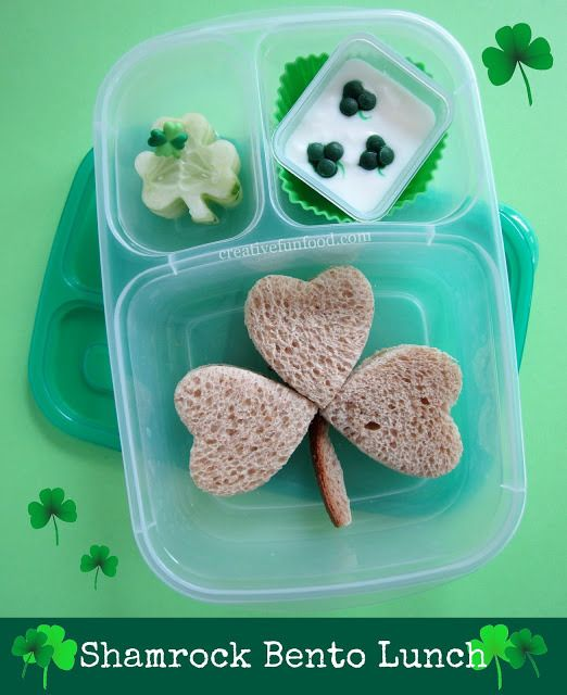 School lunch ideas for St. Patrick's Day: Shamrock Bento Box   Creative Food