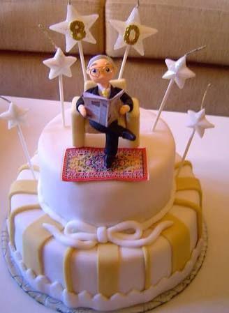 Resultado de imagem para bolo de aniversario masculino 80 anos