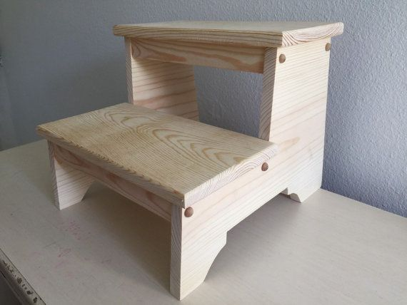 Step Stool - Unfinished Pine - Two Step Great for Toddlers & 15 best Toddler Step Stool images on Pinterest | Step stools ... islam-shia.org