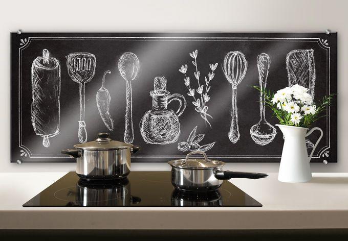 Un pannello per cucina effetto lavagna donerà un tocco di stile alla tua cucina!