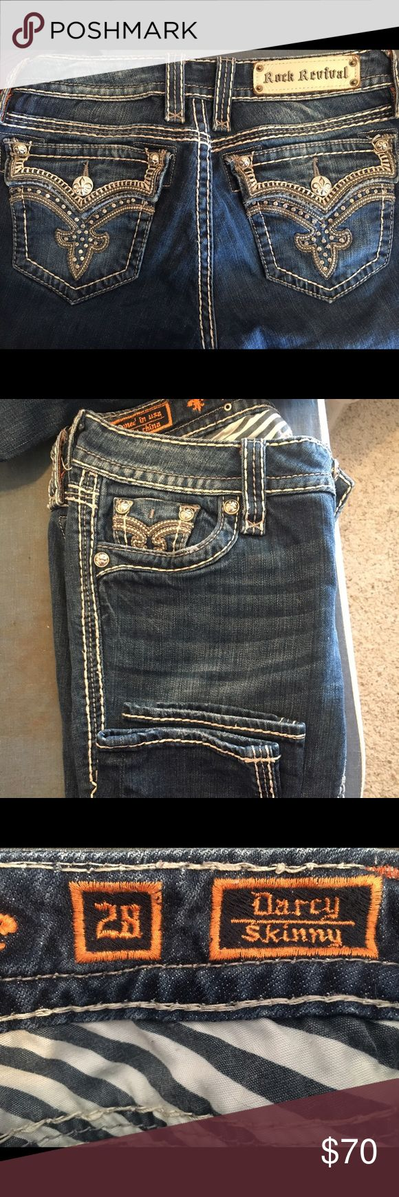 Rock Revival jeans Rock Revival jeans skinny jeans size 28 dark wash Rock Revival Jeans Skinny