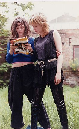 """zoo-music-grrrl:  Ari Up and Viv Albertine of The Slits, circa 1977.Photographer unknown.via  """